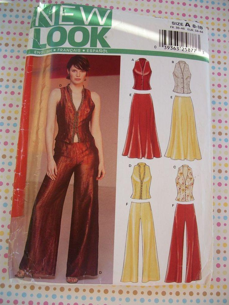 New Look Pattern 6182 Misses Wardrobe Size A (8 - 18) Uncut. #NewLook