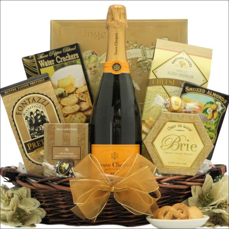 Veuve Clicquot Ponsardin Brut Champagne: Champagne Gift Basket