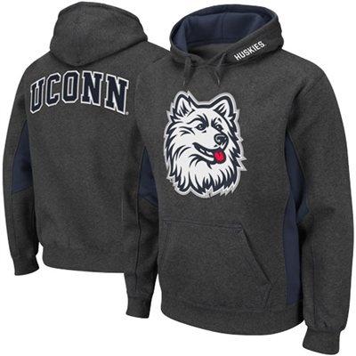 UConn Huskies Turf Fleece Pullover Hoodie - Charcoal/Navy Blue