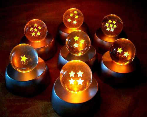 Seven Dragon Balls from Earth