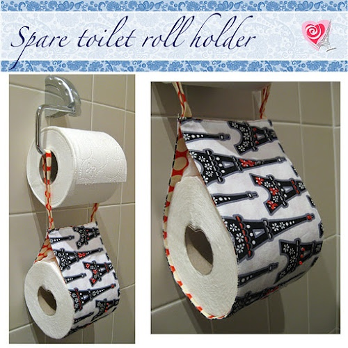 Embroidered spare toilet roll holdertutorial