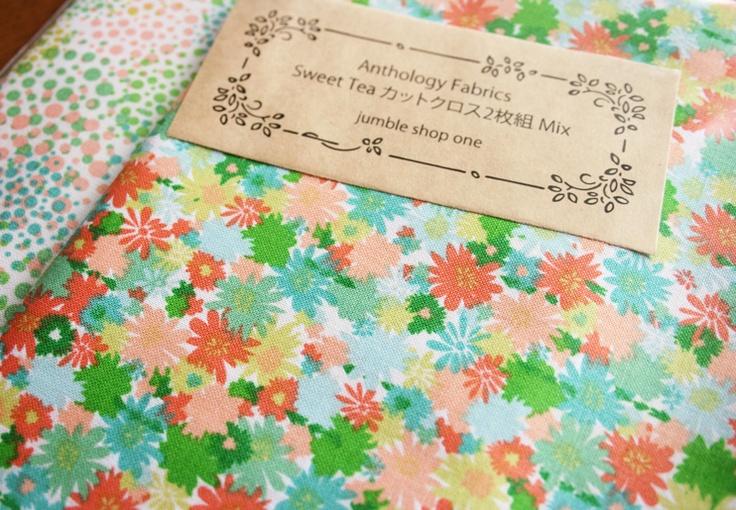 Anthology Fabrics Sweet Tea カットクロス2枚組 Mix