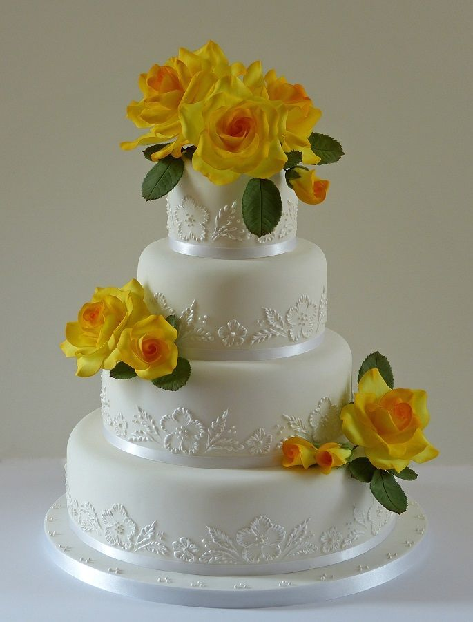 Beautiful! ~ White on White with edible Sugar Roses