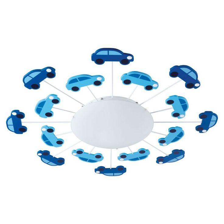 Viki+1+plafondlamp+met+auto's+-+-