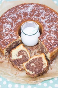Kokos-Nutella-Marmorkuchen - Rezept | verzuckert-blog.de     halbe Menge Zutaten reicht      Lecker