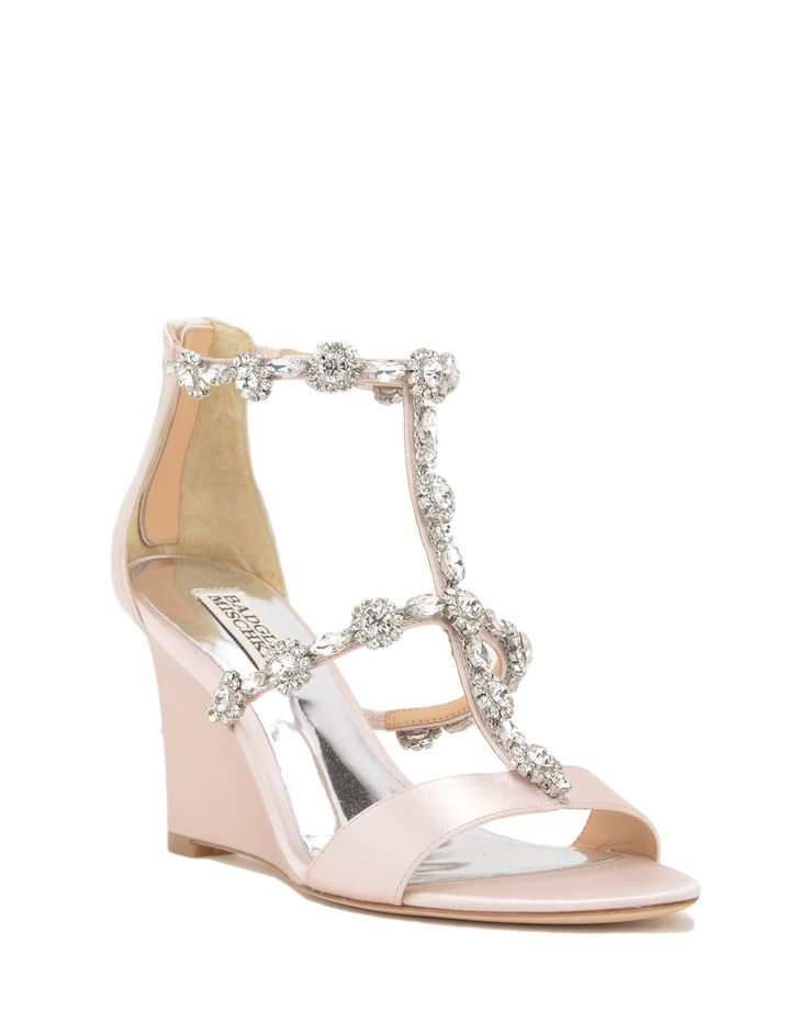 Tabby Embellished Wedge Evening Shoe