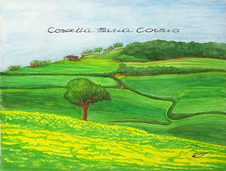Toscana (Tuscany)  oil on canvas, 50x38    Available