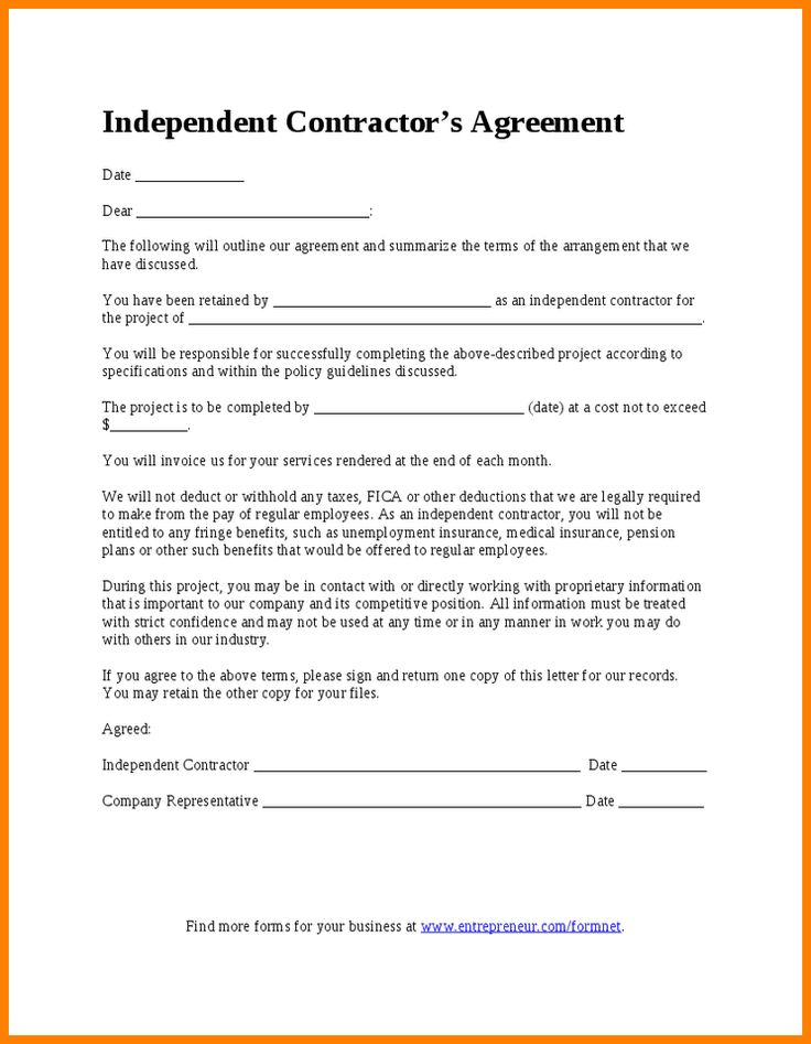 Independent Contractor's Agreement - Hashdoc