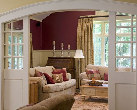 Arched extra wide pocket doors with windows loving these Extra wide front doors