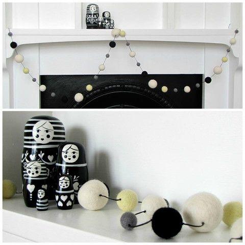 Felt Ball Garland & Nesting Dolls http://missmollycoddle.co.nz/collections/little-home
