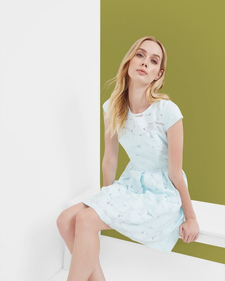Lace pleated dress - Pale Green | Outlet | Ted Baker ROW