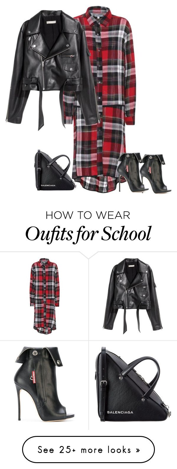 """""""Patterns!"""" by cristalmichel on Polyvore featuring Public School, Dsquared2, SKINN and Balenciaga"""