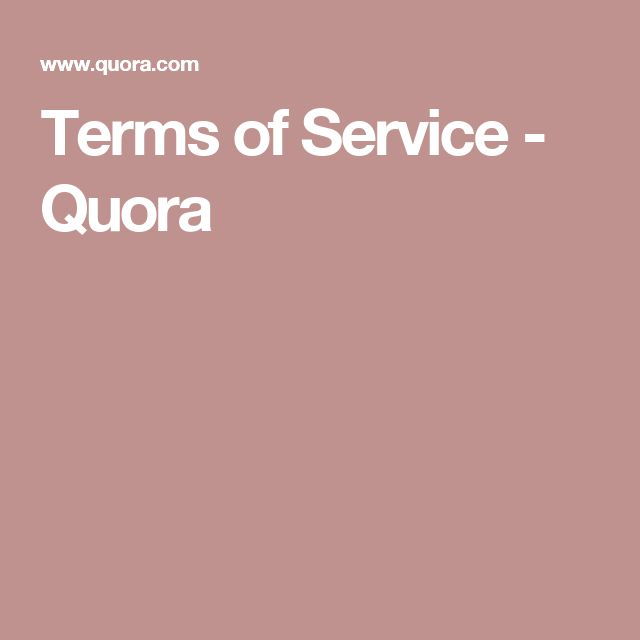Terms of Service - Quora