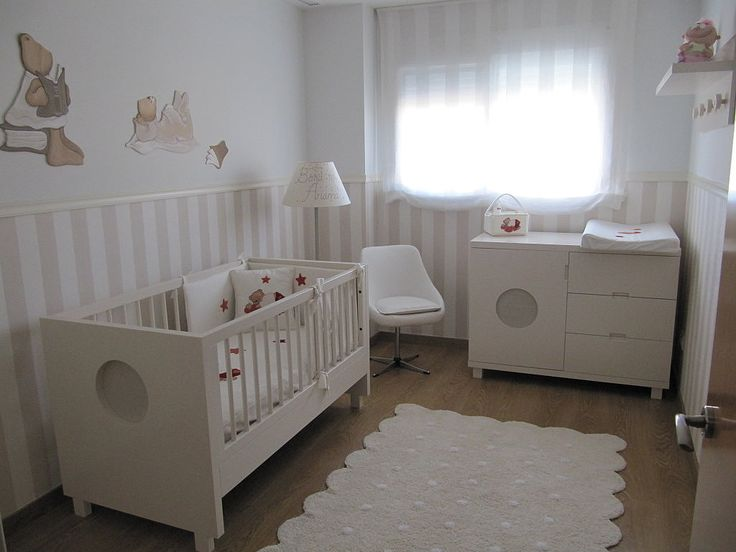 17 best images about habitaciones bebe on pinterest wall for Habitaciones decoradas para bebes