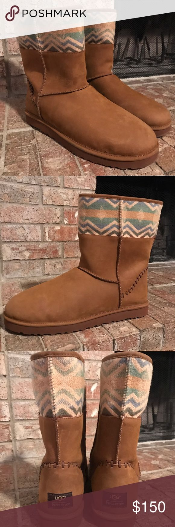 UGG AUSTRALIA PENDLETON Classic Short Deco Ltd. New without a box. UGG AUSTRALIA PENDLETON Classic Short Deco Ltd. Brown Boots Mens size 18. UGG Shoes Winter & Rain Boots