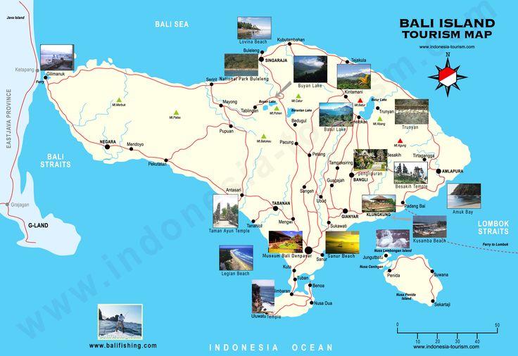 Bali Tourist Map - Bali Indonesia • mappery