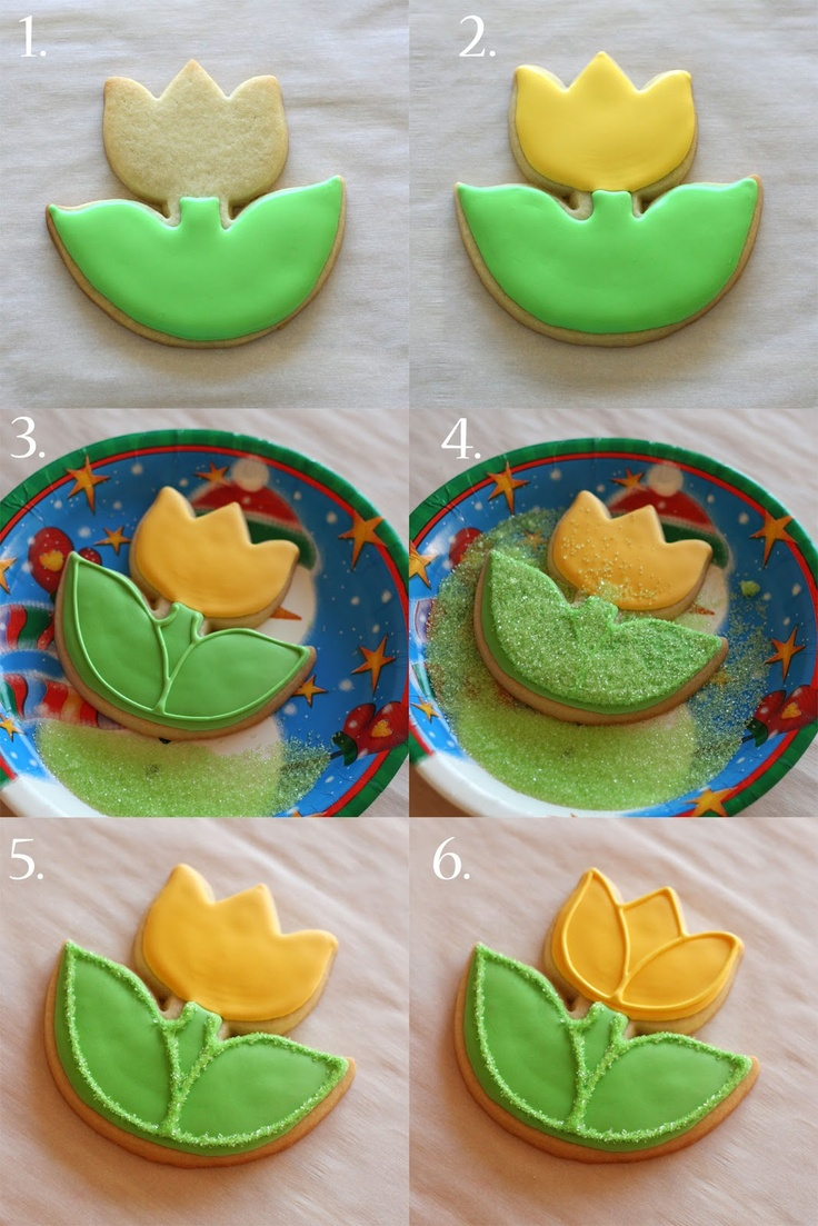 Glorious Treats » Spring Tulip Cookies