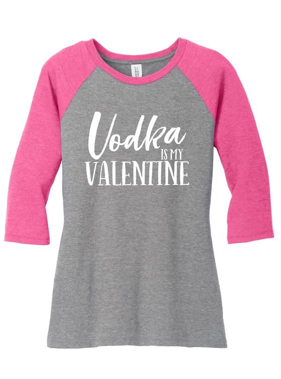 05e43233169 Vodka is My Valentine Shirt Funny Valentines Shirts for Women
