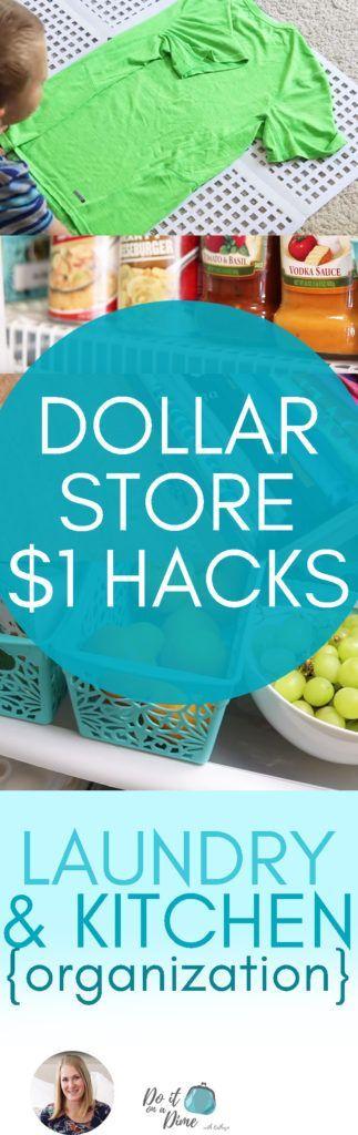 $1 Dollar Store Hacks: Laundry & Kitchen Organization