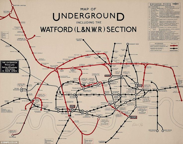Look familiar? This map, dated from as far back as 1919 bares little resemblance to the modern day London Underground maps. Click on link to read full article and see many other maps!
