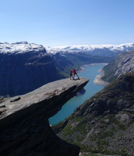 Trolltunga in Hardanger Norway