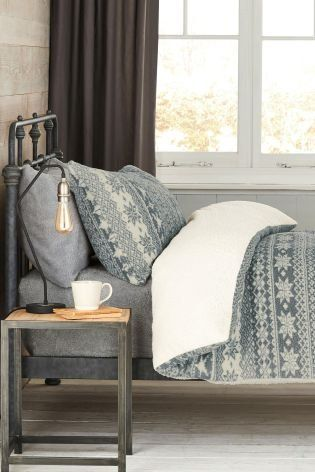 Your bed just got a whole lot cosier for the colder nights ahead! Nothing says winter like a fairisle print, and who wouldn't want their bedroom to be all things festive?