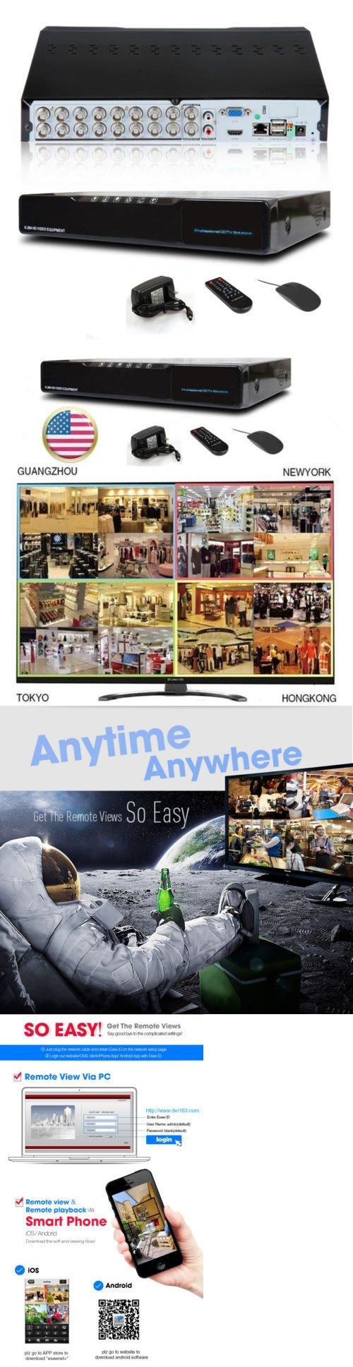 Digital Video Recorders Cards: Cctv Network Dvr 16Ch 1080P H.264 Ip Camera Digital Vedio Recorder BUY IT NOW ONLY: $68.99