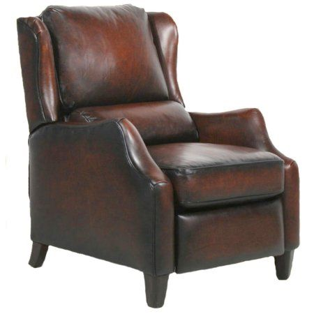 Barcalounger Berkeley II Leather Electric Power Recliner Stetson Bordeaux Top Grain Leather Chair with Espresso Wood Legs 7-4059 5407-17 - In-Home White Glove Delivery and Setup