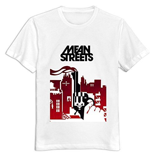 Buluew Men's Punk Mean Streets O Neck T Shirt Size US White   Buluew Men's Punk Mean Streets O Neck T Shirt Size US White We Use High Quality And Eco-friendly Material And Inks! We Promise That Our Prints Will Not Fade, Crack Or Peel In The Wash. The Ink Will Last As Long As The Garment!Machine Washable T-shirt.  http://www.beststreetstyle.com/buluew-mens-punk-mean-streets-o-neck-t-shirt-size-us-white/