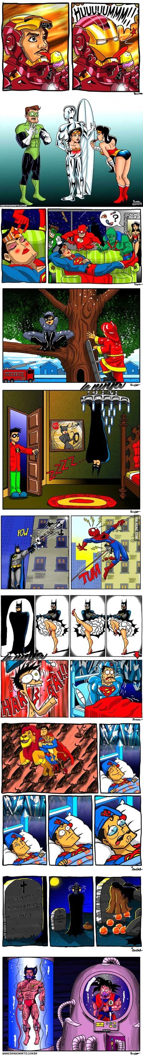 Super Heroes fun time - 9GAG