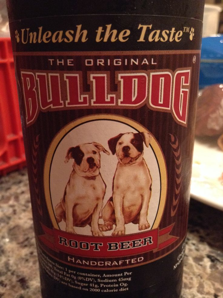 Bulldog root beer Bulldog, Root beer, Calorie diet
