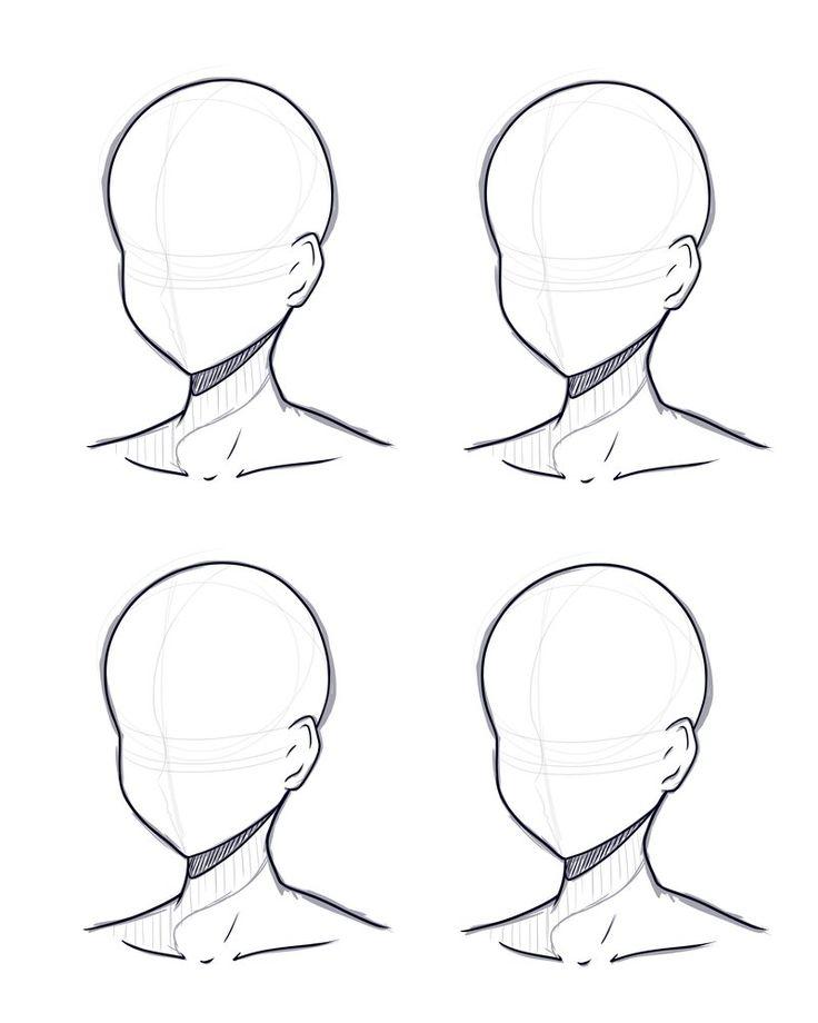Head Design Base Sketch And Lineart By Kitsunetsukiko Deviantart