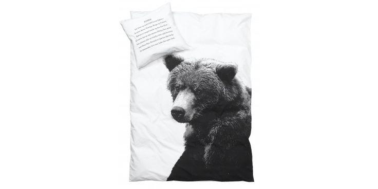Housse de couette Ours polaire ou Ours brun,  taille lit simple ou lit double - chez K-LINE à Morges en Suisse