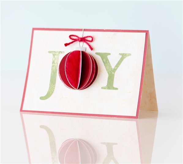 #Joy #Card -- add dimension with @Cricut ® :)