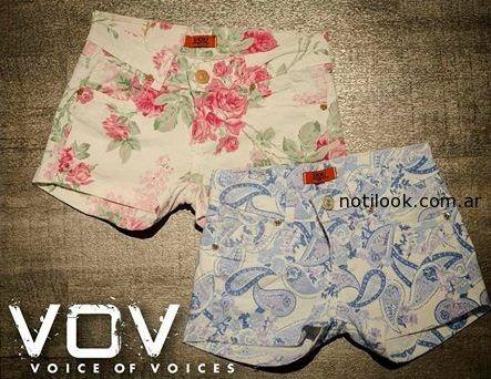 Shorts estampado de VOV Jeans verano 2015
