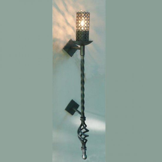 Hampton traditional wrought iron torch light 609 1perf hampton traditional wrought iron torch