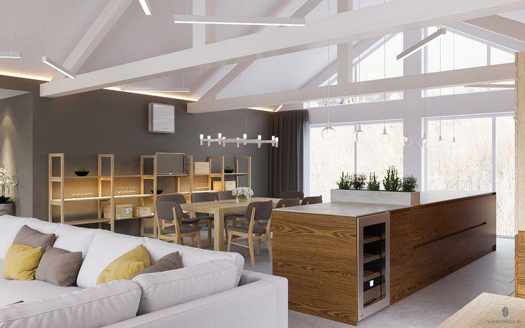 "Проект ""S.O.2"" от минской студии ""Станза"" в стиле модернизм, кухня-столовая. | Project ""S.O.2"" by Stanza studio (Minsk, Belarus), style  modernism. #kitchen #design #interior #house #stanza_studio_minsk http://www.stanza.by/"