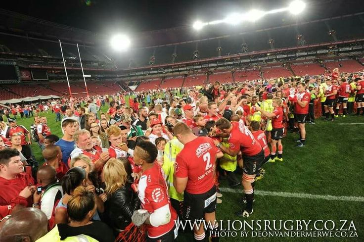 Remember that after every home game the Emirates Lions have a signing session after the game on the field for all their fans! This week we will also be having a meet and greet before the game! Come and meet all you favourite players in front of the Canterbury Shop! #Lions4Life #LeyaTheLion #Liontainment #SuperRugby #BeThere #MyLionsMoment #LIOvWAR