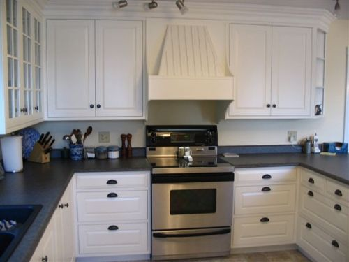 White Cabinets In Kitchen With Black Countertops Part 18