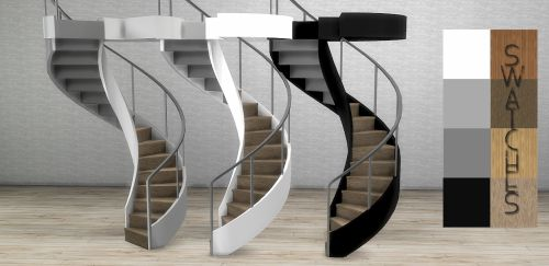 Modern staircase for The Sims 4