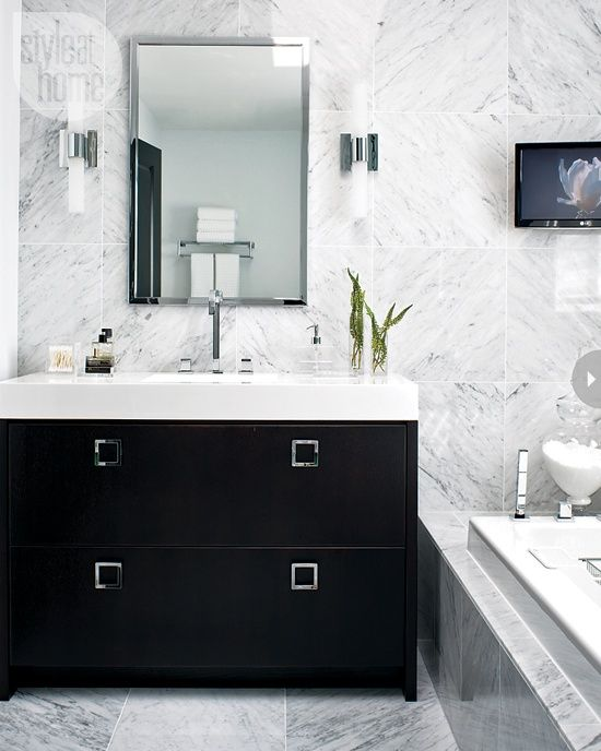 black white bathroom. 1000  images about Glam Bathroom on Pinterest   Master bath