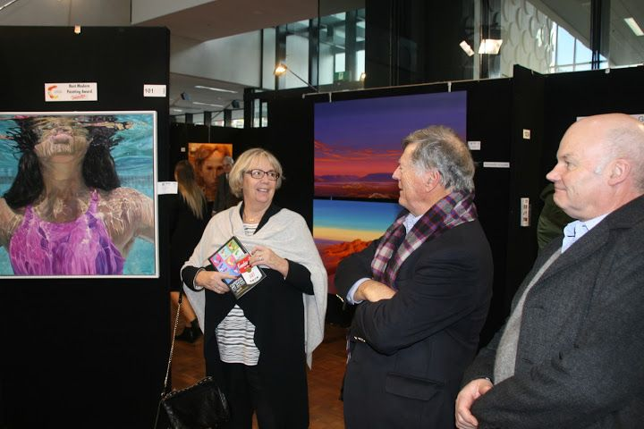 """Camberwell Rotary Art Show 2016 Photo: Gordon Cheyne 'The Show has been an event for 51 years and often the venue by which some of the world's most renowned and capable """"water colour""""  artists (many of whom reside in Melbourne evidently) exhibit  and regularly share in the prizes and awards.    Again there were several water colours on show, but equally there were oils, pastels and various other types'."""