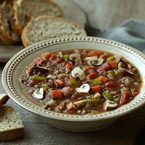 Most dried beans take hours to cook, but lentils only take 30 minutes. Serve this soup with Panera Bread Stone-Milled Rye Bread for dipping.- Visit PaneraBread.com for more inspiration.