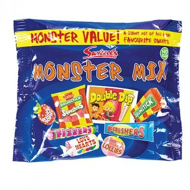 A monster bag of all your favourite Swizzels sweets including double lollies, love hearts, refreshers and drumstick squashies! Perfect for party bag fillers! Bag of 310g - approx. 30 sweets.