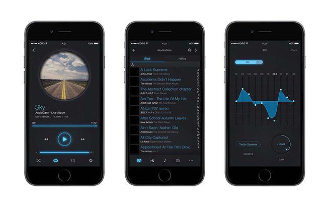 EDGED : 코르그, DSD 재생 지원 아이폰용 고해상도 앱 'iAudioGate' 발표
