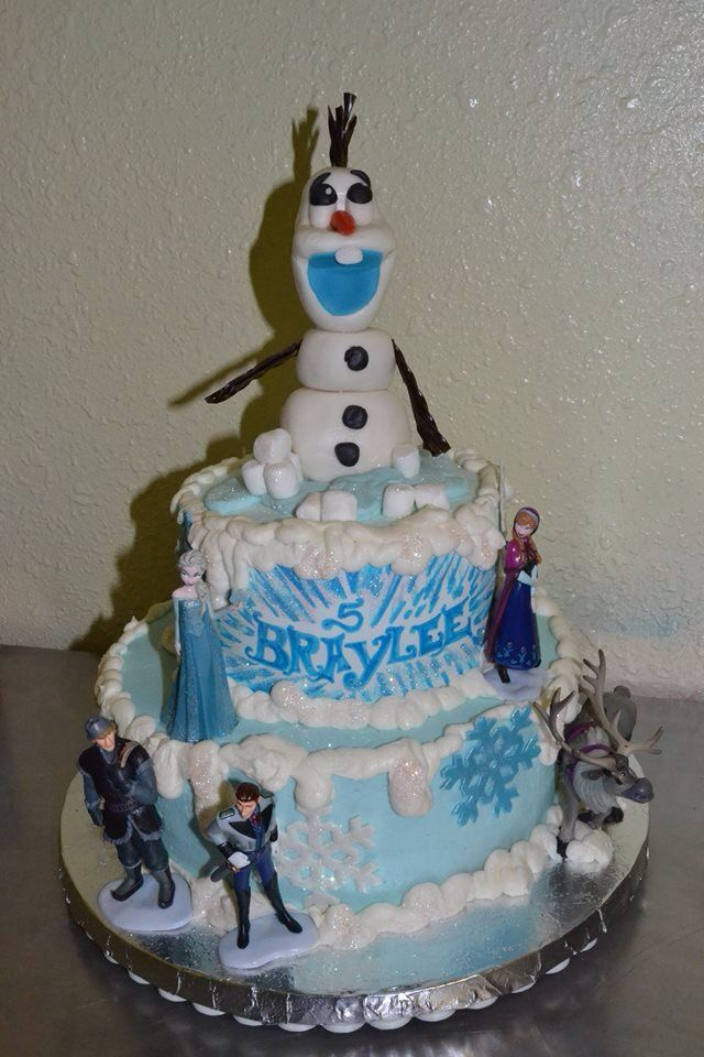 Birthday Cake Ideas Disney Frozen : Disney s Frozen Birthday Cake Happy Birthday Pinterest ...