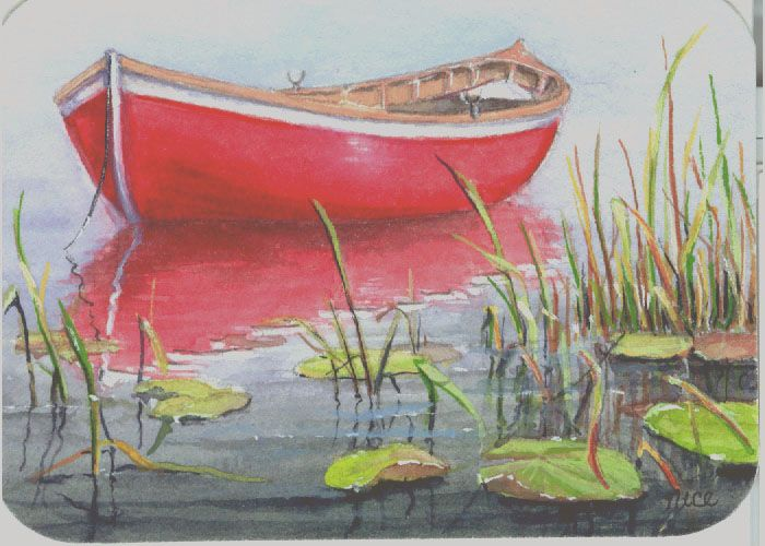 Cherry Red Row Boat Cool Journals And Sketchbooks Boat