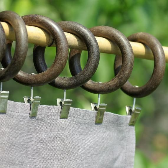 Wooden Curtain Rings With Clips 26 Brown Curtain Rode Rings Clips