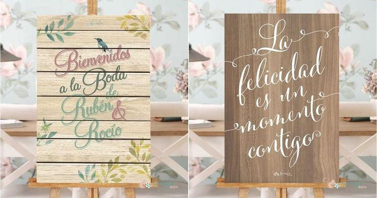 Carteles vintage para decorar tu boda