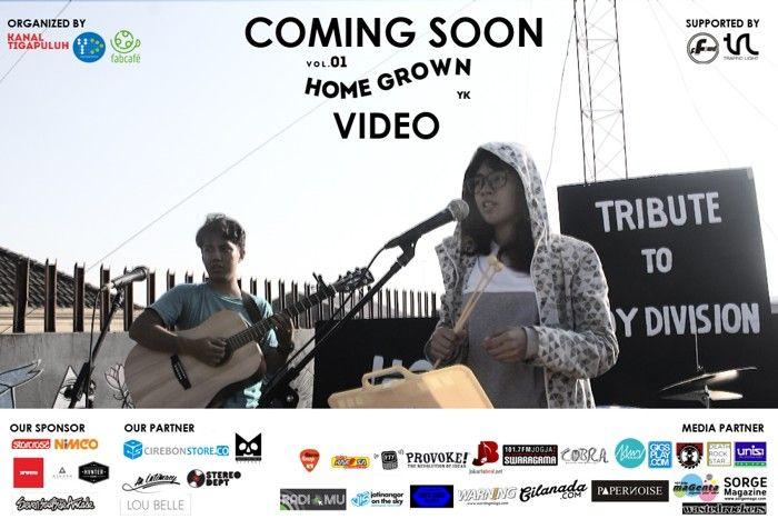 Video Homegrown Vol.1 Jogja Dirilis 14 Juli 2015